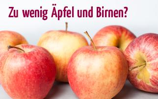 Zu wenig Äpfel und Birnen? Unser Angebot an Sie: